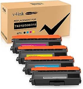 Compatible with Brother TN391BK TN391C TN391M TN391Y Toner Box for Brother L8250CDN//L8350CDW//L8400CDN//L8600CDW//L8850CDW Color Printer-4colors