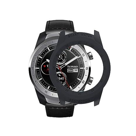 Compatible TicWatch Pro Montre Connectée Cadre Coloré PC Coque de Protéger SIKAI Lightweight Coque pour TicWatch Pro Smart Watch Housse Protéger Shell ...