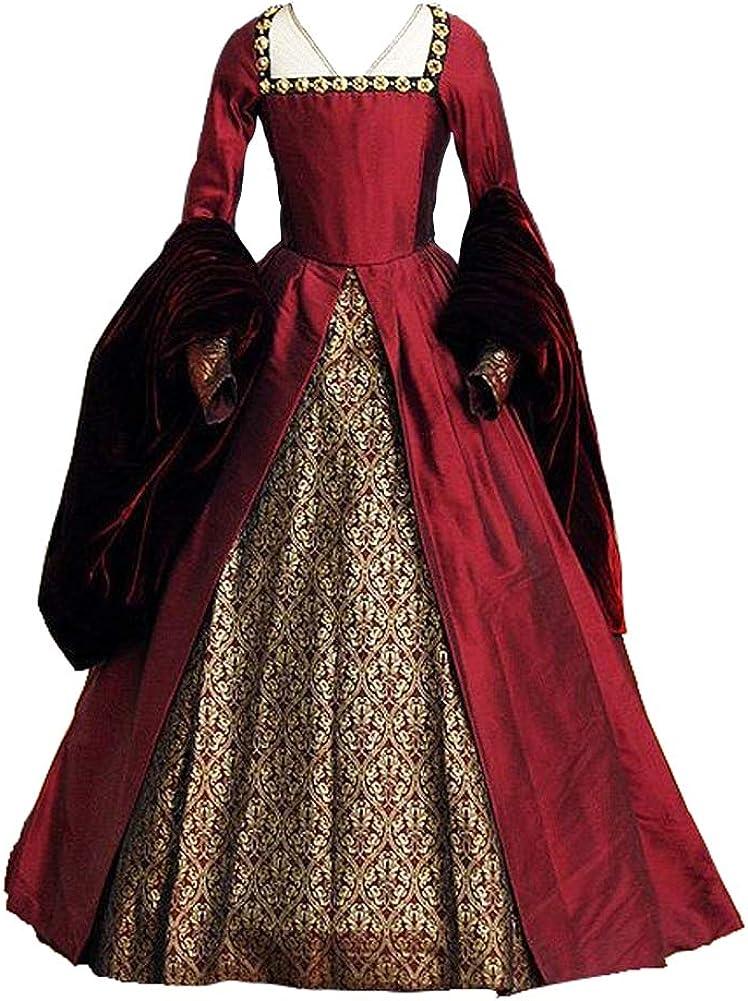 Royal Tudors Maiden Princess Queen Girl Henry the 8th Anne Boleyn Costume Dress