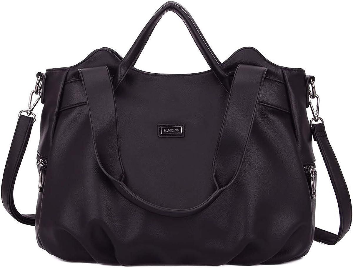 ulti Pocket Crossbody Bag for Women, Ultra Soft Washed Vegan Leather Shoulder Purse