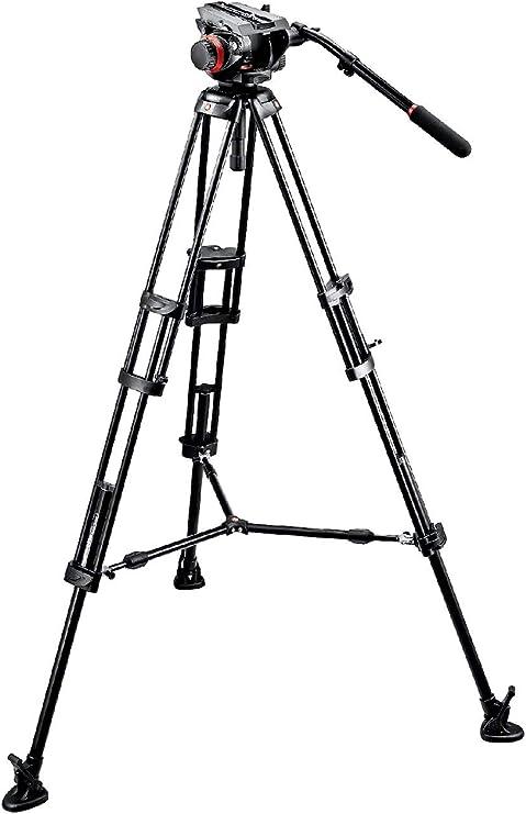 Manfrotto 504HD-546BK - Kit de vídeo (trípode 546B, estabilizador ...