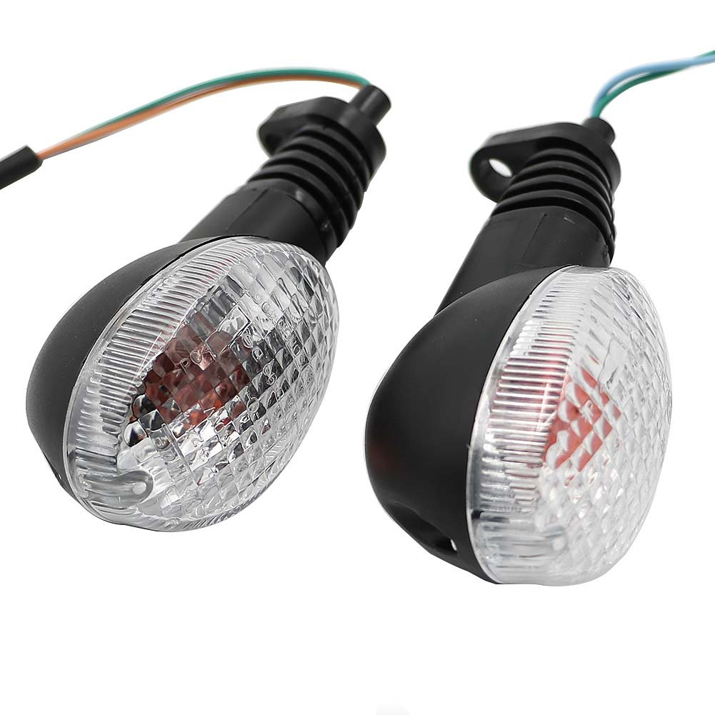 MotoParty For Kawasaki EX250 Ninja 250 2008-2012 KLX250 KLX250SF 2009-2011 Turn Signal Blinker Clear Lens