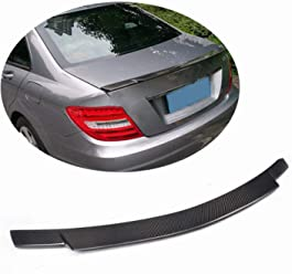MCARCAR KIT W204 Front Spoiler Pure Carbon Fiber Front Bumper Lip for Mercedes Benz C Class W204 S204 C63 AMG Sedan Wagon 2008 2009 2010 2011
