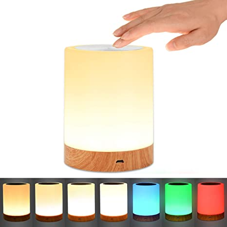 Comkes Touch Lamp Bedside Table Lamp For Bedrooms Living Room
