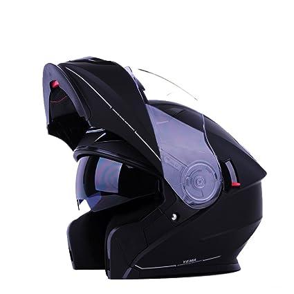 DFUCF Casco De La Motocicleta Casco De Seguridad Masculino Y Femenino Auricular Bluetooth Incorporado Casco Completo