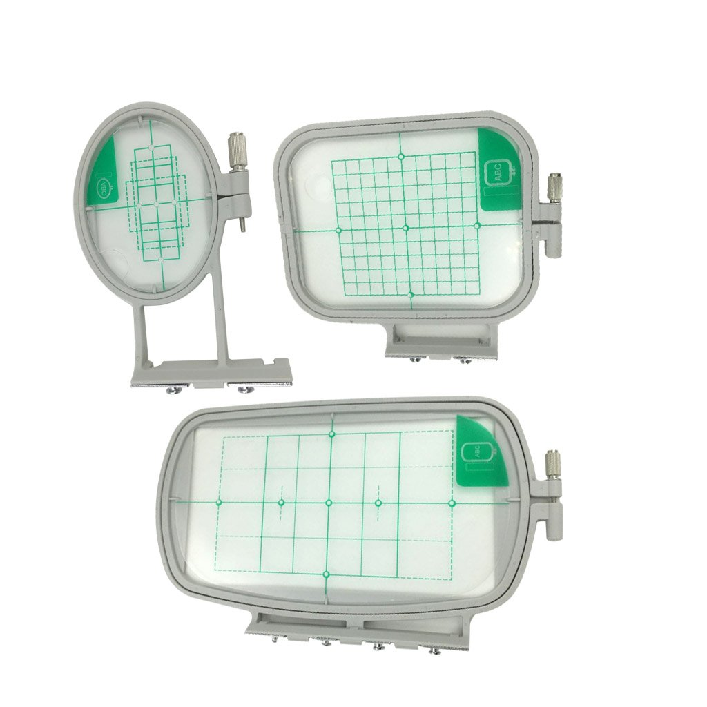 MagiDeal 3 Pieces Embroidery Hoop Frame For Brother Embroidery Machine SE270D, SE350, SE400, HE120, HE240 0571000260057ESA