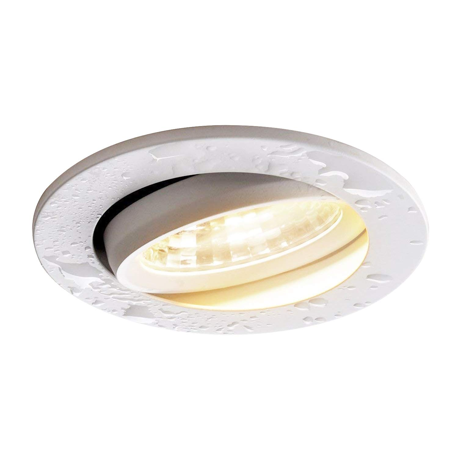 Obsess Dimmable Recessed Ceiling Down Light for Wet Location,Rotatable,with Junction Box,Specially Fixture Lighting for Bathroom, Shower Room, Kitchen-3 Inches-8W COB LED (3000k (Soft White Glow))