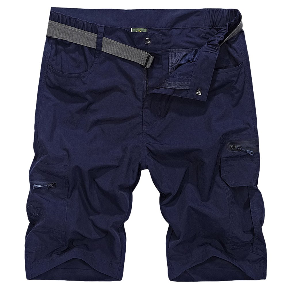 Xinwcang Hombres Pantalonetas Talla Grande Aire Libre Secado R/ápido Deporte Pantalones Cortos Multi-Bolsillo Bermuda