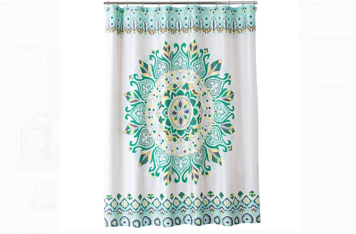 Better Homes /& Gardens Medallion Fabric Shower Curtain Polyester Machine Washabl