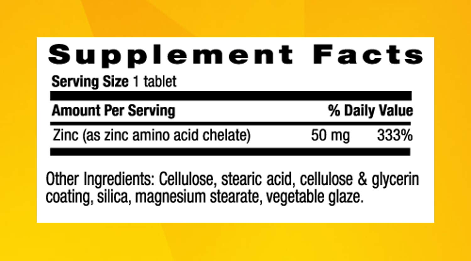 Amazon.com: Country Life - Chelated Zinc, 50 mg - 100 Tablets: Health & Personal Care