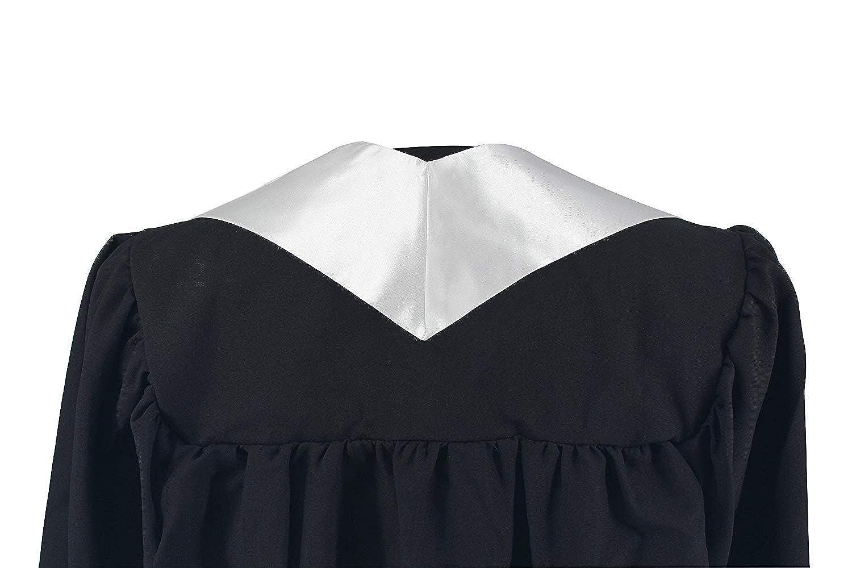 GraduationMall Unisex Adult Plain Graduation Stole 60 Long 16 colors