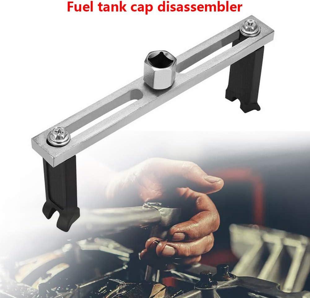 Ysisly Tankdeckelschlüssel Kraftstoffpumpe Deckel Entfernung Werkzeug Entfernen Schraubenschlüssel Einstellbare Auto Kraftstoffpumpe Deckel Verstellbarer Schraubenschlüssel Werkzeug 2 Backen Auto