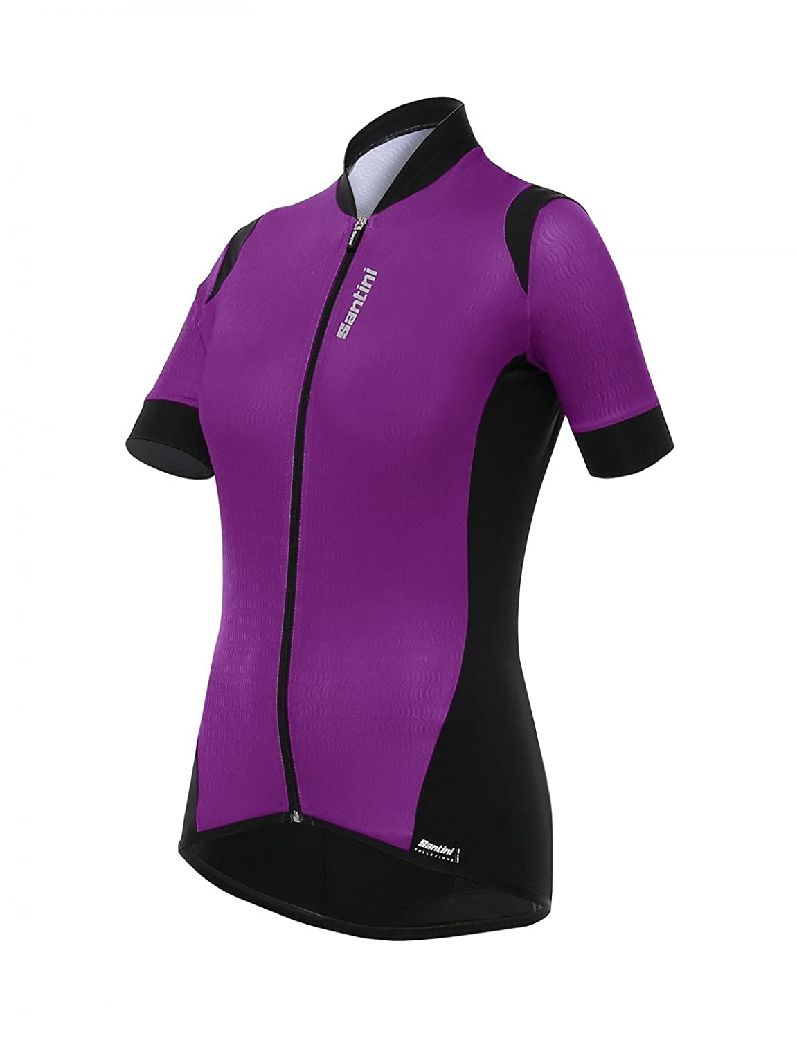 Santiniパープル2017 Wave Womens Short Sleeved Cycling Jersey B01MS841ZM XL