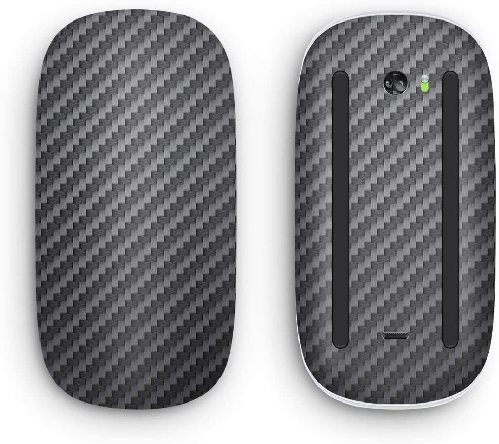 Design Skinz Textured Black Carbon Fiber - Skin Decal Vinyl Full-Body Wrap Kit Compatible with The Apple Magic Mouse 2 (Magic Mouse not Included)