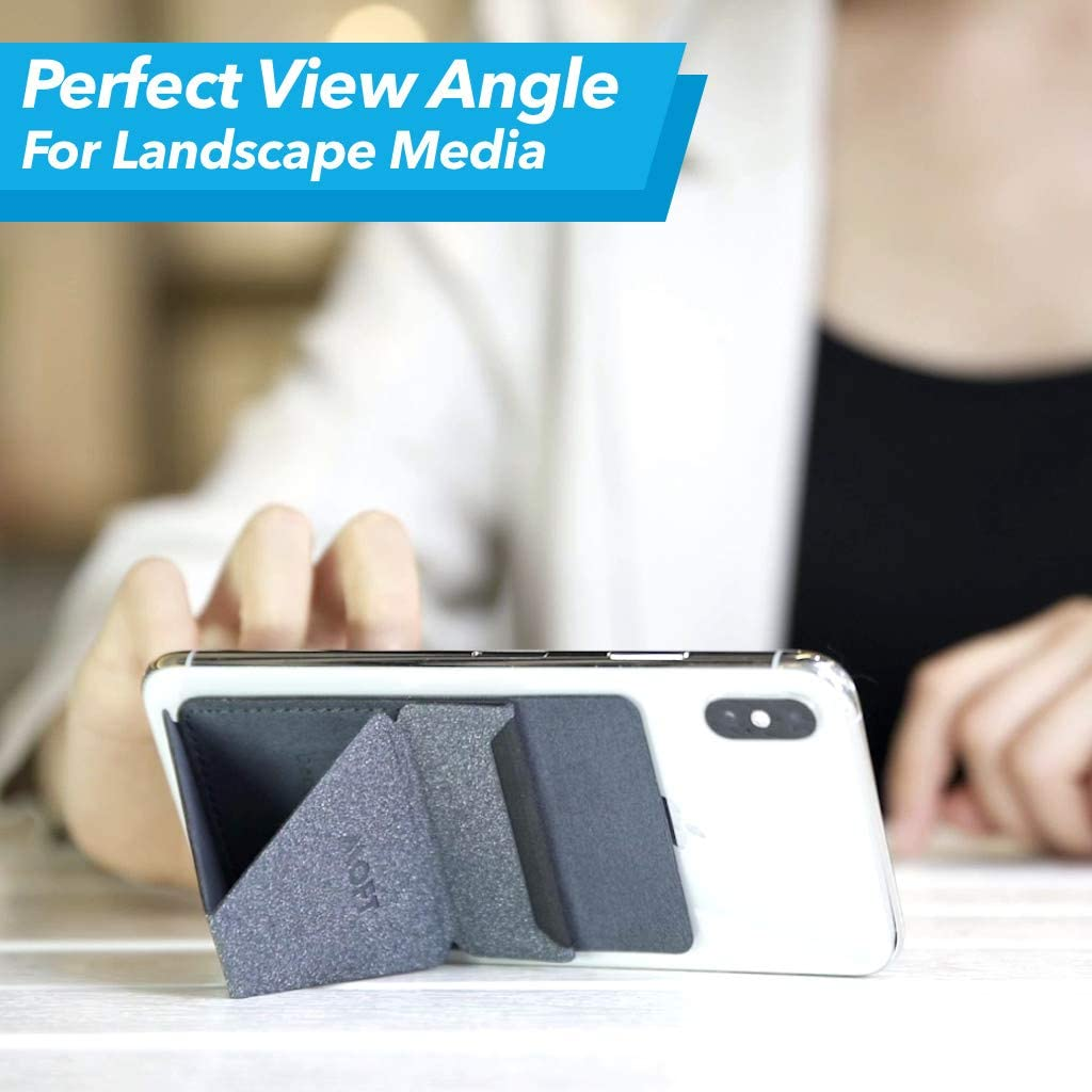Car Phone Holder Car Mount Ultra-Light Phone Wallet 4 in 1 Invisible and Foldaway Phone Stand-Starry Grey MOFT X Phone Card Holder
