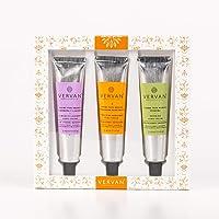 Vervan Kit 3 Cremas de Manos (1 Crema de Manos de Almendra, 1 Crema de Manos de Verbena, 1 Crema de Manos de Mandarina Bergamota)