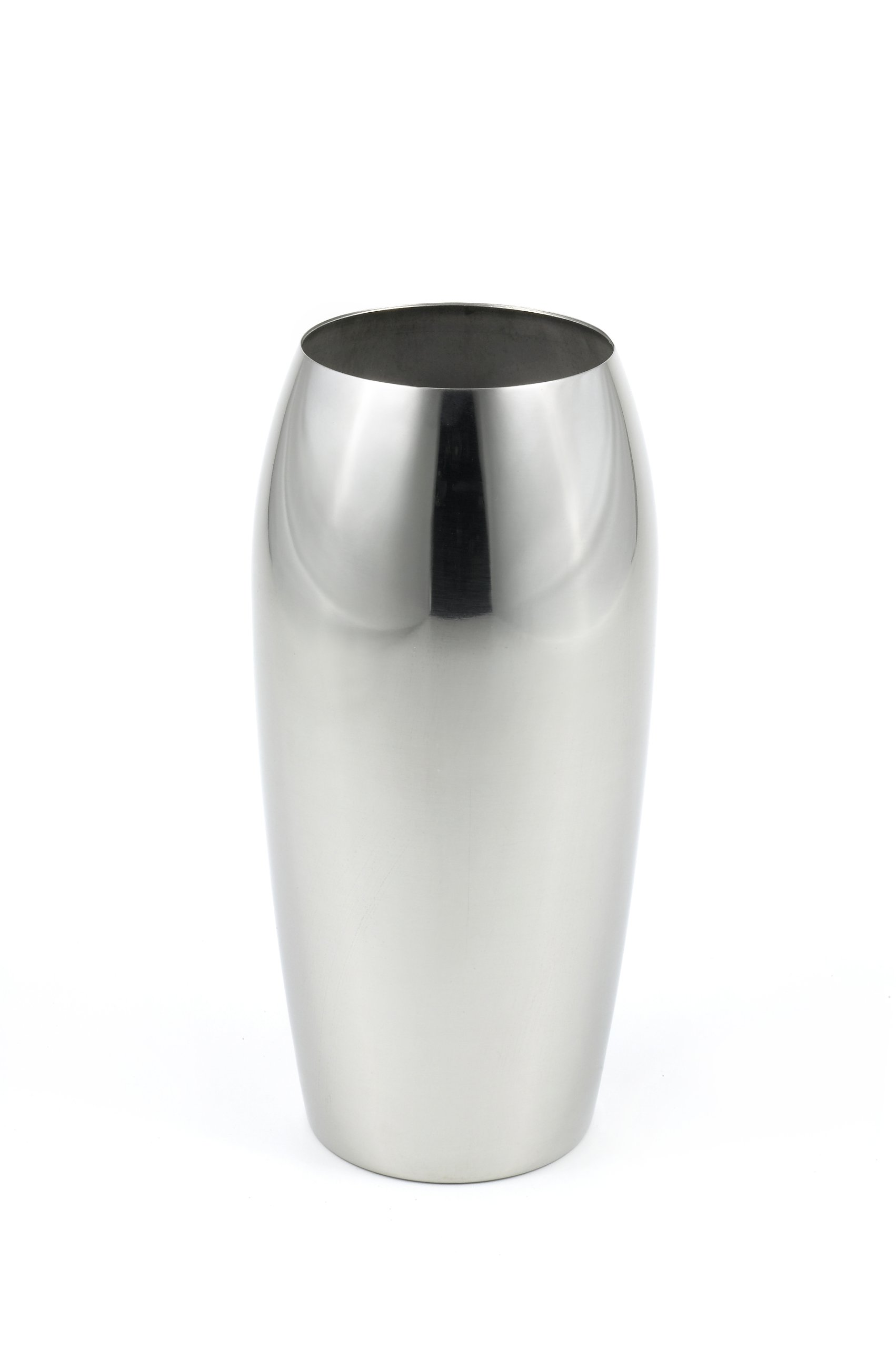 StainlessLUX 72202 Brilliant Oblong Stainless Steel Flower Vase, 4.6 Inches Diameter x 9.4 inches Height - Brilliant Reflective Finish & Elegant Oblong Shape Enhances Your Home Décor Quality 18/8 Stainless Steel and Fine Craftsmanship Durable, Elegant, Practical, Easy-to-clean and Eco-Friendly - vases, kitchen-dining-room-decor, kitchen-dining-room - 616K5uXerzL -