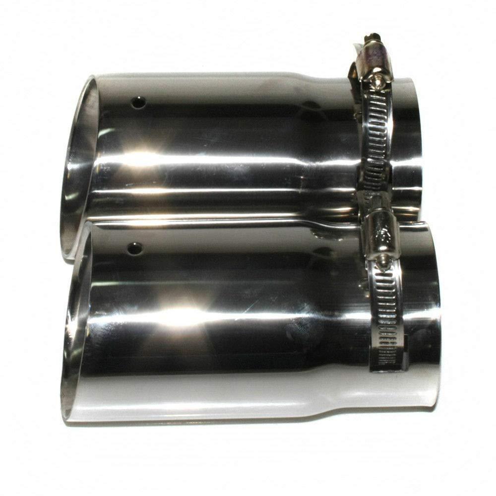 Autohobby 0019 Embout d/échappement universel en acier inoxydable pour tuyau d/échappement sport jusqu/à 65 mm Chrome A B C G H J CC 3 4 5 6 7
