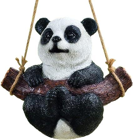 Yardwe Jardín jardín Resina Estatua Patio decoración Animal Panda ...