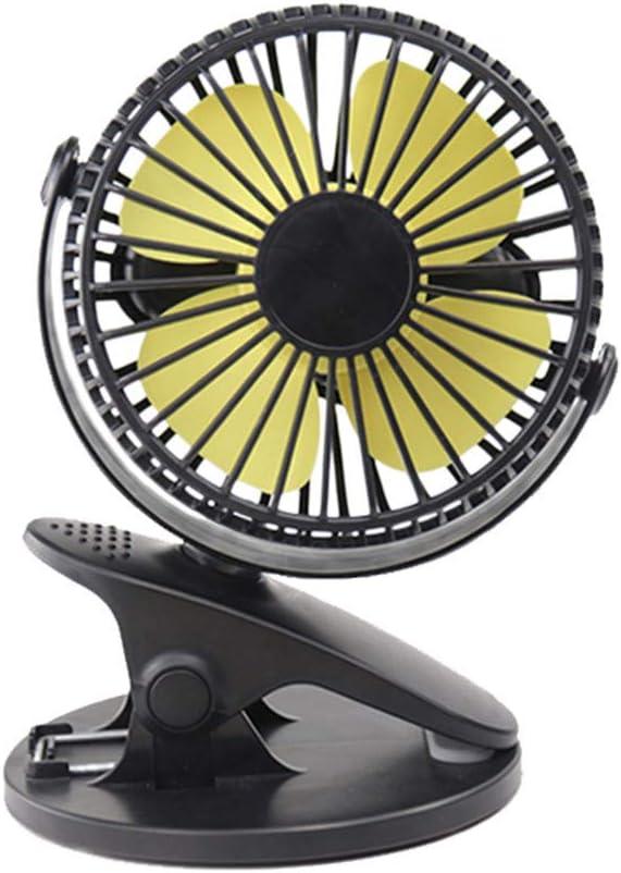 Table Fans 2 in 1 Applications TheRang 360/° Portable Fan Rechargeable USB Clip Desk Personal Fan Strong Wind Clip on Fan Small Desktop Fan,