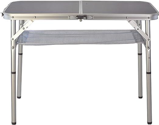 Camelot - Mesa Plegable (Aluminio, 80 x 40 cm): Amazon.es: Jardín