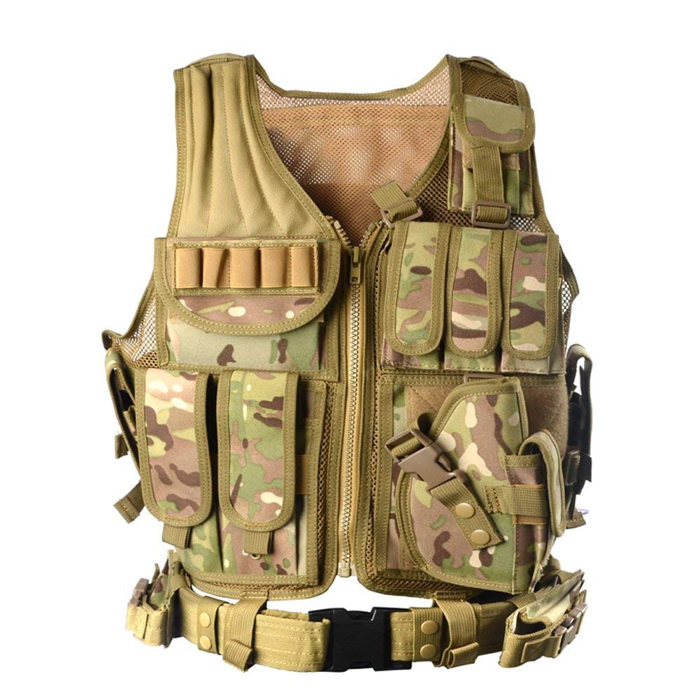 vAv YAKEDA Army Fans Tactical Vest Cs Field Outdoor Equipment Supplies Breathable Lightweight