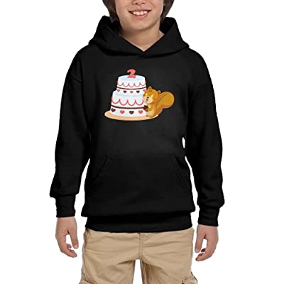 2nd Birthday Squirrel Boy Girls Pullover Hoodies Athletic Hooded Sweatshirts With Pocket
