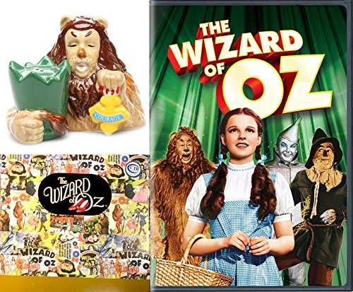 (Musical The Wizard of Oz Movie & Cowardly Lion Salt & Pepper Shakers Figurine Collectible 2-pack Wonderful Courage set Oh my!)