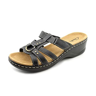 dc0a7b241163 Clarks Lexi Jasmine Womens Black Slides Sandals Shoes Size New Display UK  4.5  Amazon.co.uk  Shoes   Bags
