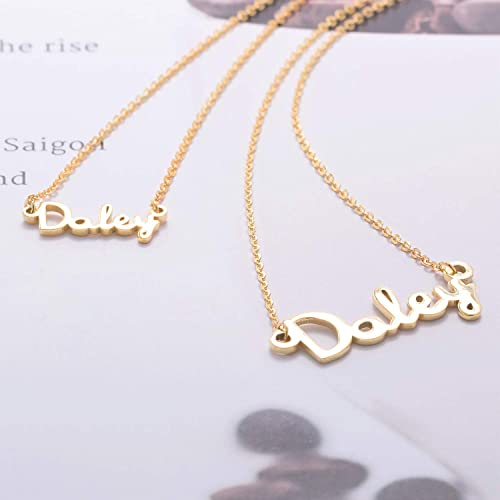 d2db5b6659 Image Unavailable. Image not available for. Color: Graceful Rings Gix  Minimalist Nameplate Necklace Buy Cheap Custom Mens Or Womens Couples  Jewelry