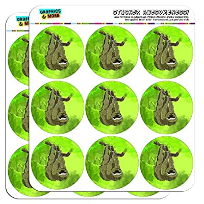 Sloth Watercolor 2&Quot; Planner Calendar Scrapbooking Crafting Stickers - Opaque -