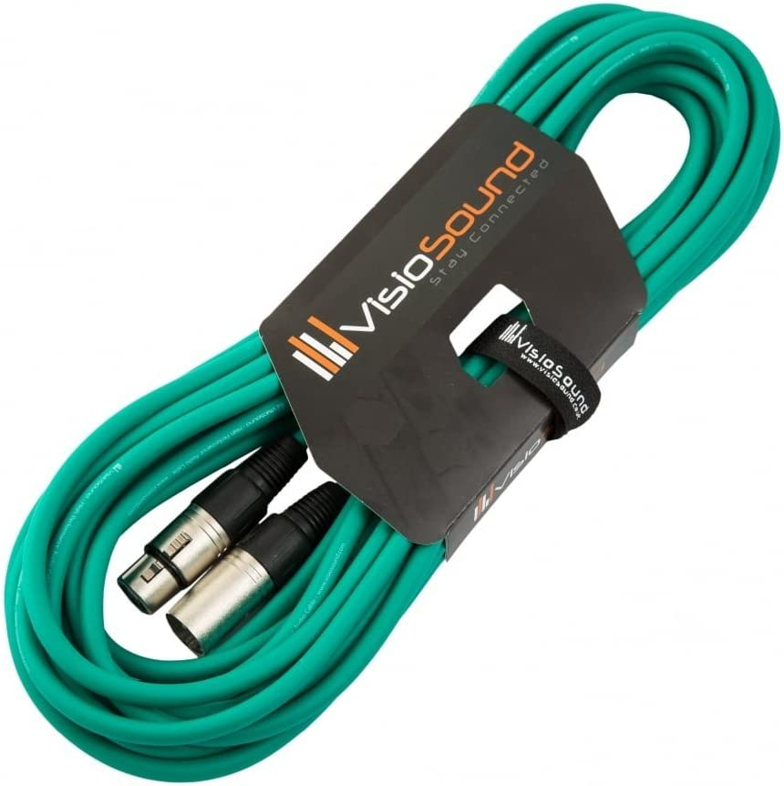 7 Colours 3m Blue Male to Female XLR Mic Lead//Balanced Microphone//Mic Patch Cable