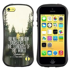Suave TPU GEL Carcasa Funda Silicona Blando Estuche Caso de protección (para) Apple Iphone 5C / CECELL Phone case / / do not conform inspiring free quote /
