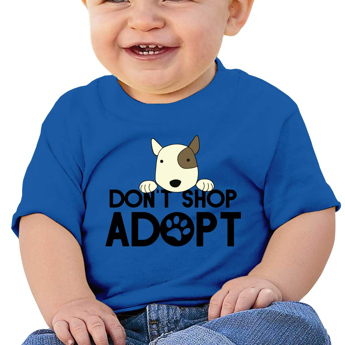 XHX403 Dont Shop Adopt Infant Kids T Shirt Cotton Tee Toddler Baby 6-18M