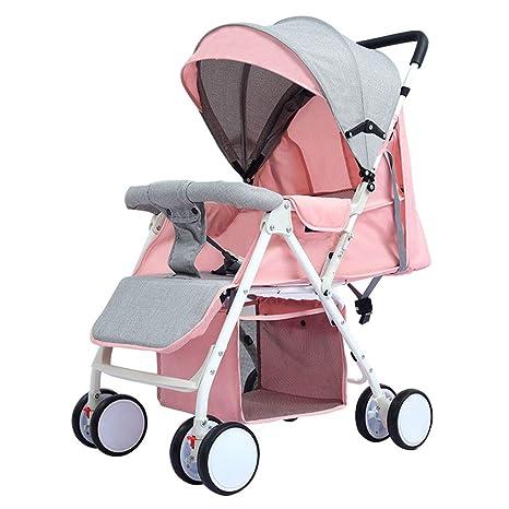 Cochecito de bebé puede sentarse reclinable ligero plegable amortiguador carro de bebé 0-3 años