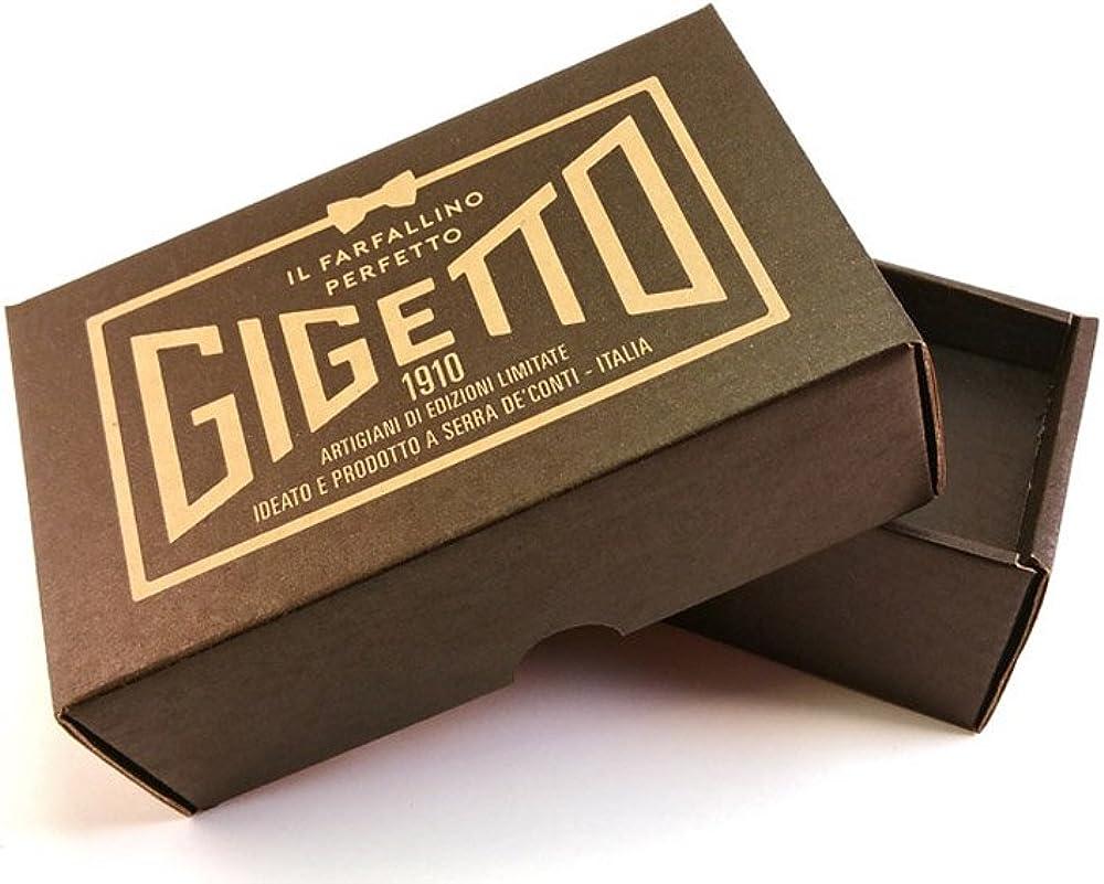 Papillon legno GIGETTO Bottiglie Nodo Ecopelle Nero Made in Italy