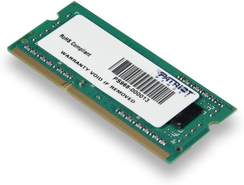 Patriot Signature 4GB DDR3 PC3-12800 (1600MHz) CL11 SODIMM Memory Module PSD34G160081S