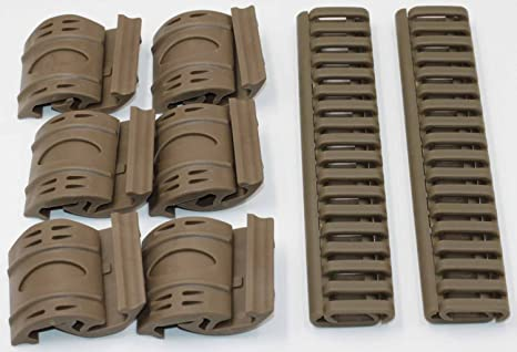 Camping & Hiking Pack Of 4 Rail Ladder Cover Fire Resistent 7 Weaver/picatinny Tan New In Many Styles