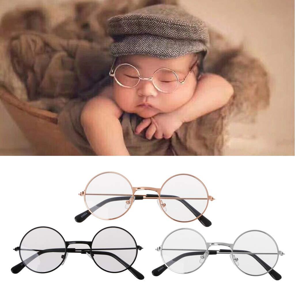 Flat Glasses Newborn Baby Girls Boys Photography Props Gentleman Studio Shoot