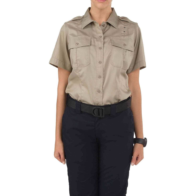 Style 61158 Polyester-Cotton Fabric 5.11 Tactical Womens Class A Twill PDU Short Sleeve Shirt
