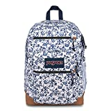 JanSport Backpack Cool Student Laptop Backpack - WHITE FIELD FLORAL Deal