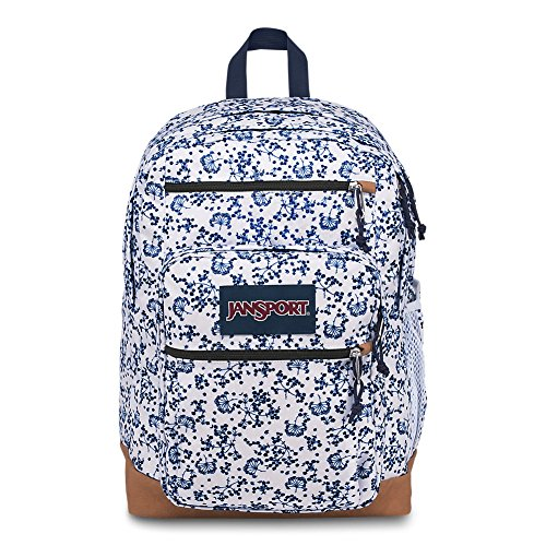 JanSport Backpack Cool Student Laptop Backpack - WHITE FIELD FLORAL Deal (Large Image)