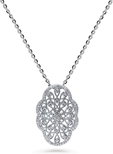 BERRICLE Gold Flashed Sterling Silver CZ Butterfly Fashion Pendant Necklace