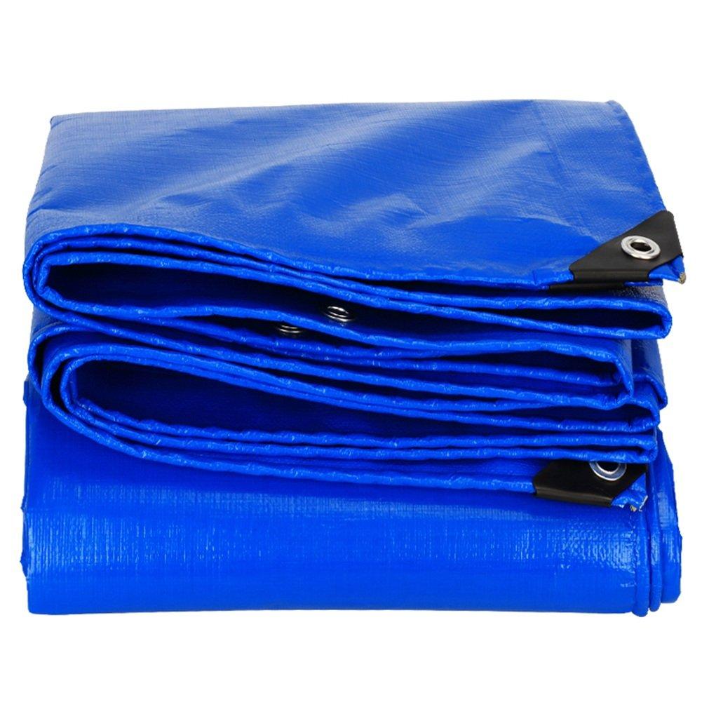 CHAOXIANG オーニング 厚い 耐寒性 耐高温性 アンチサン アンチエイジング 耐摩耗性 軽量 PE ブルー、 160g/m 2、 厚さ 0.28mm、 24サイズ (色 : 青, サイズ さいず : 6×8m) B07D31ZJN7 6×8m|青 青 6×8m