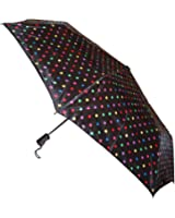 Totes TITAN Super Strong Folding Umbrella with 38-inch Canopy Coverage and Ergonomic Handle, 1 Pack