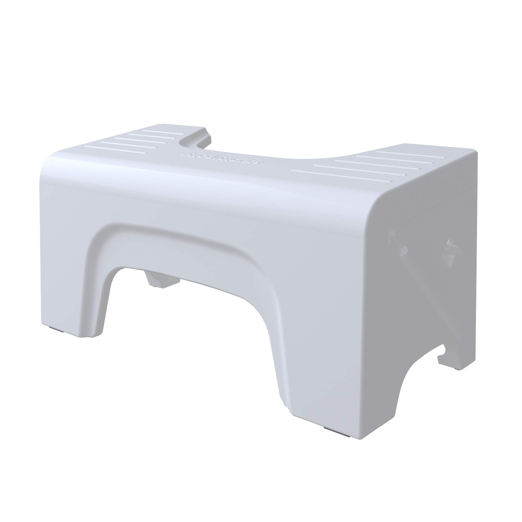 Squatty Potty Fold N Stow Compact Foldable Toilet Stool, White, 7'', 1 lb