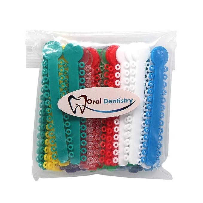 Wecando - Corbata de ligadura ortodóntica multicolor, bandas de ...