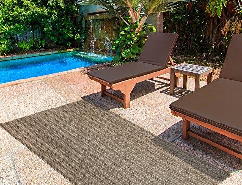 Gertmenian Barnwell Prime Modern Outdoor Furniture Rug, 5x7 Standard, Chestnut Brown (Collection Jordan Brown Studio)