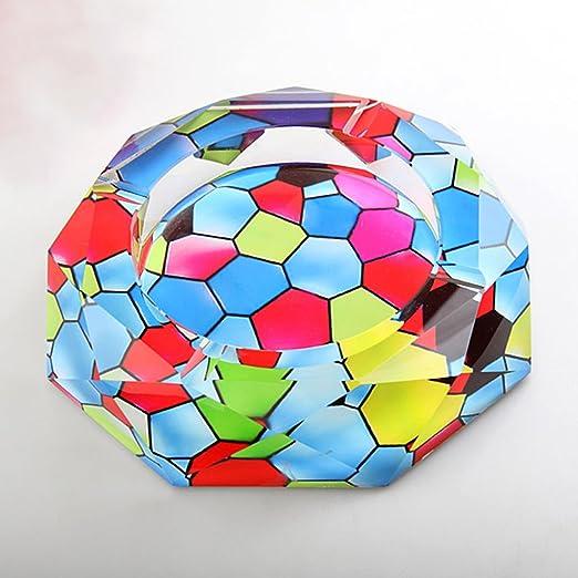 LT&NT Octágono cristal cenicero engrosado bandeja de ceniza de ...