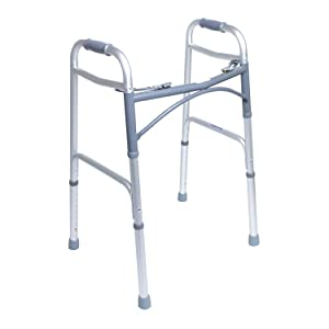 KosmoCare Premium Imported Light weight Aluminum Height Adjustable Reciprocal Folding Walker 2